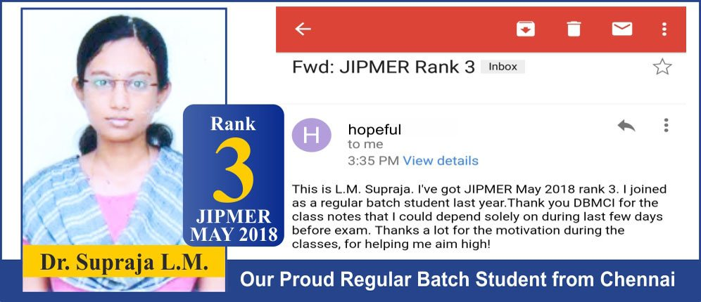 JIPMER May 2018 Topper