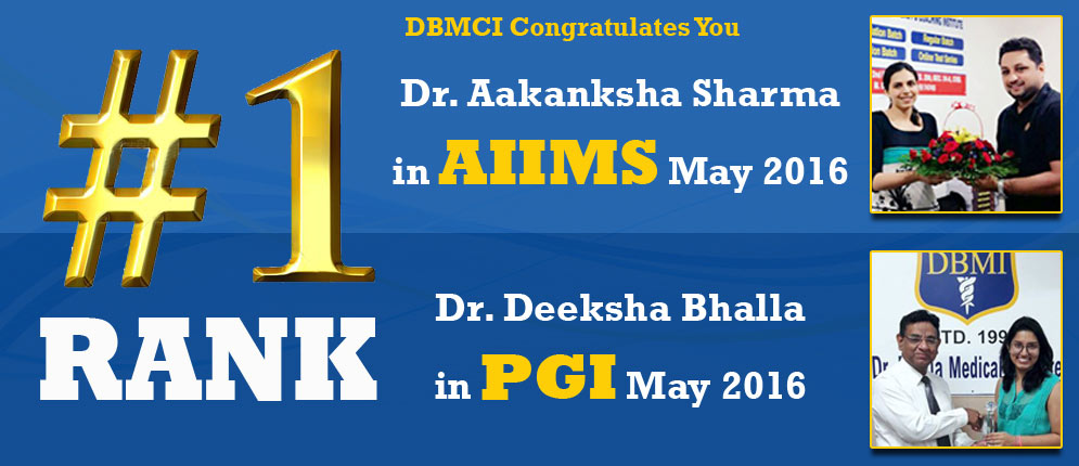 AIIMS and PGI Topper May 2016