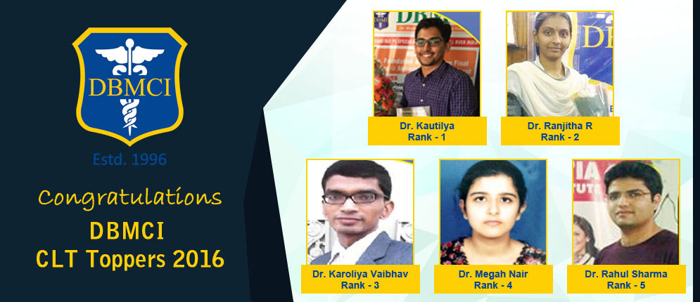 DBMCI CLT Toppers 2016