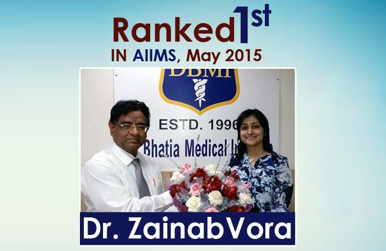 Ranked 1st in AIIMS May 2015
