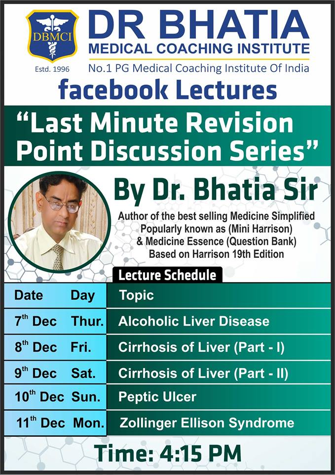 DBMCI - Last Minute Revision Point Discussion Series